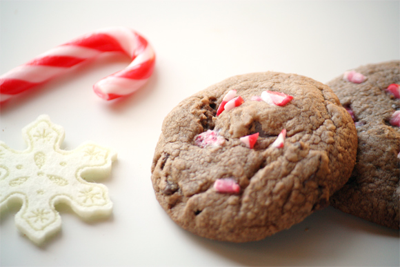 Dark Chocolate And Candy Cane Cookies – Cook Republic